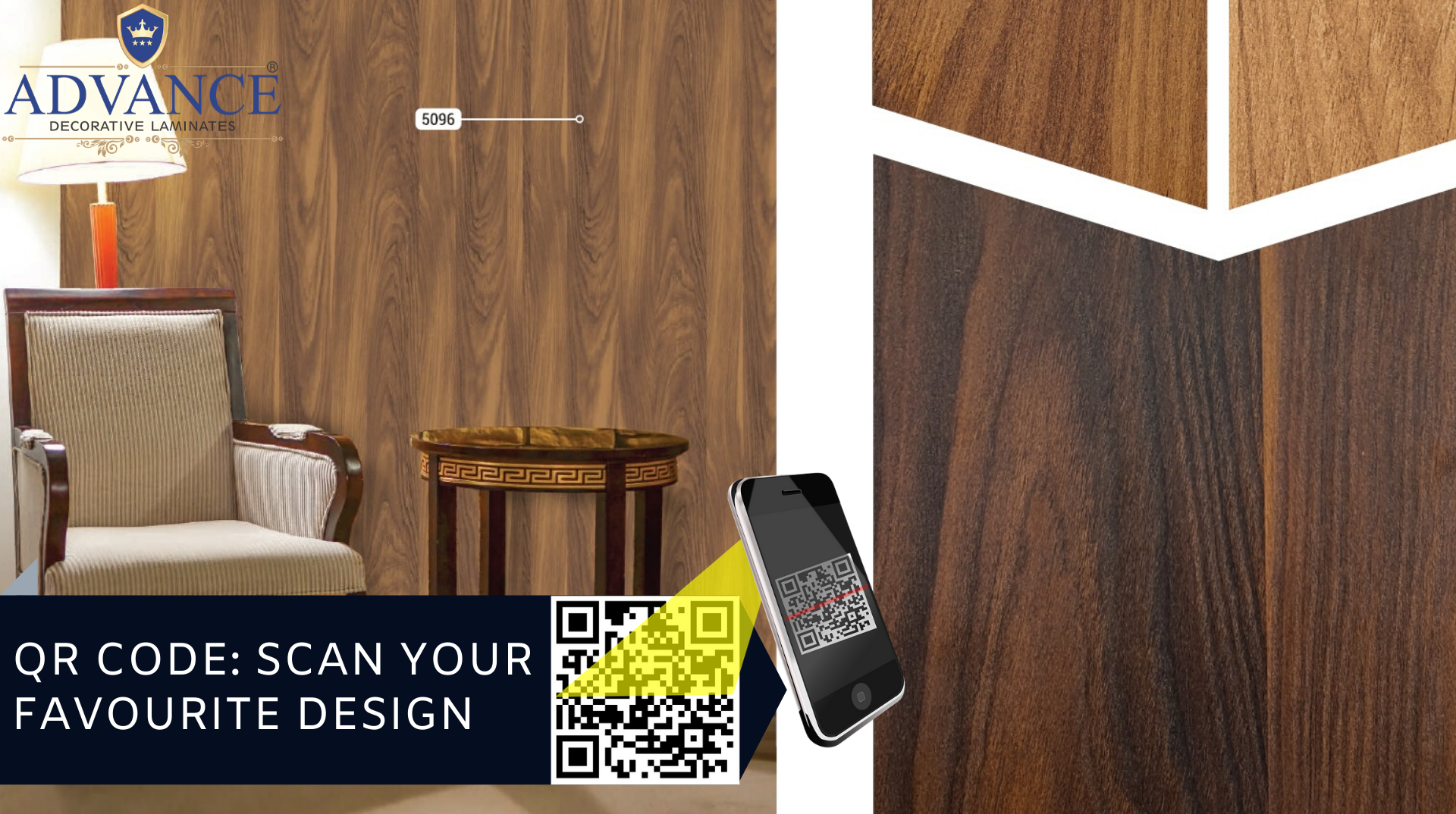 Scan the QR Code and select your design