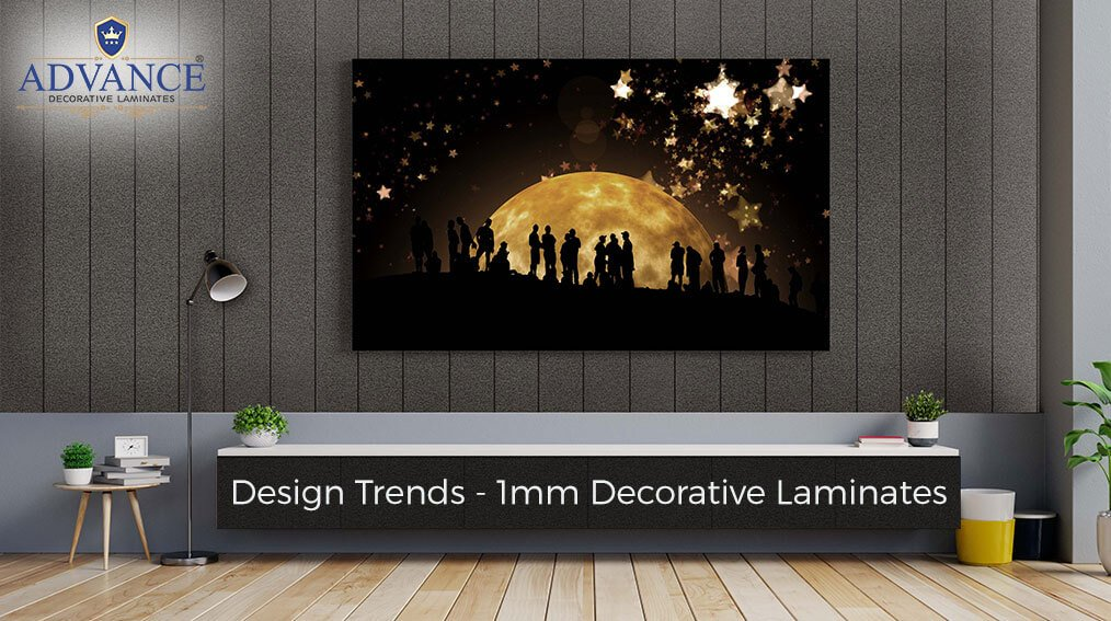 What are the design trends in Advance 1mm Decorative Laminates?
