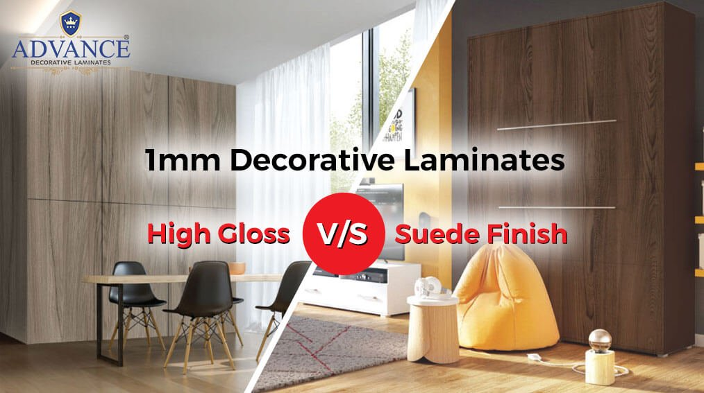 Difference between High Gloss & Suede Finish Decorative Laminates