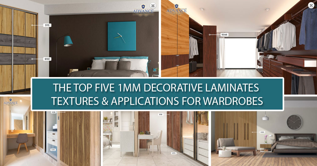 Top Five 1mm Decorative Laminate Textures and Applications for Wardrobes