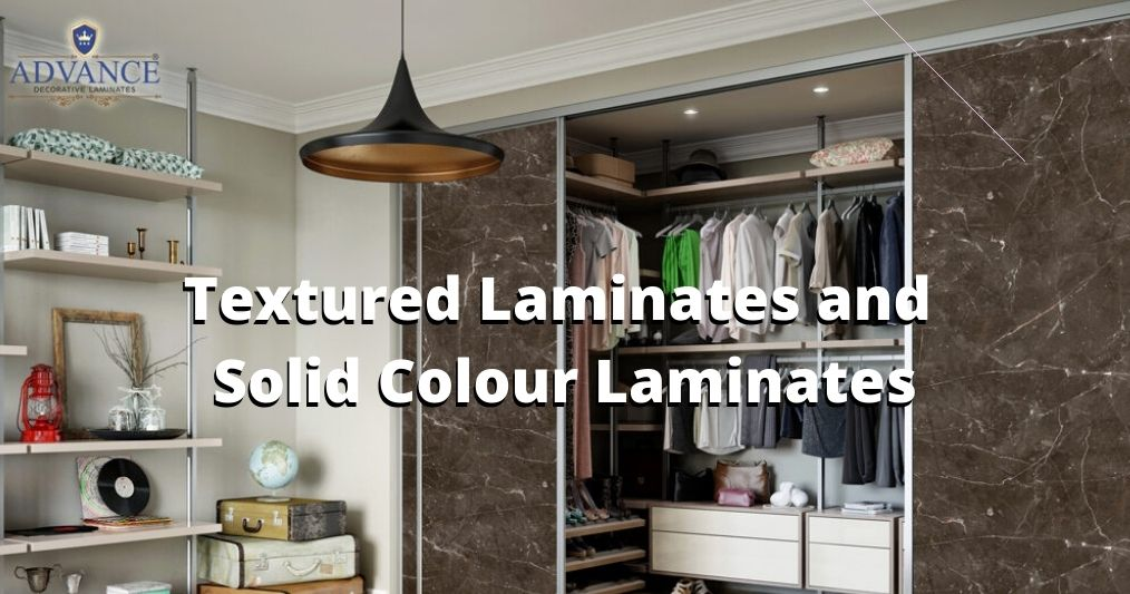 Where to use Textured Laminates and Solid Colour Laminates?